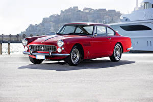 Обои Ferrari Ретро Красный 1963-64 330 America Pininfarina