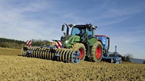 Обои Поля Трактор 2014-16 Fendt 724 Vario Worldwide