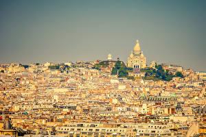 Обои Франция Дома Париж Мегаполис