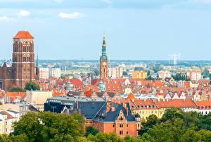 Картинка Гданьск Польша Дома Города