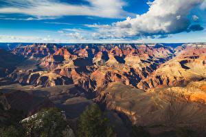 Картинка Гранд-Каньон парк США Парки Пейзаж Горы Небо Облака Природа