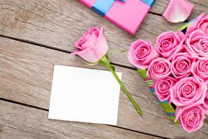 Картинки Праздники Розы Доски Шаблон поздравительной открытки Розовый Цветы