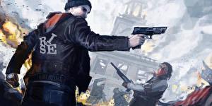 Обои Homefront Мужчины Пистолеты The Revolution Игры