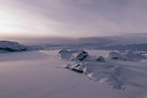 Обои Исландия Зима Снег Природа фото