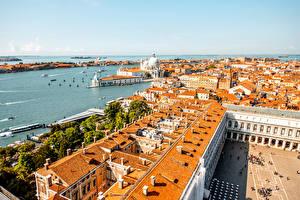 Обои Италия Здания Венеция Крыша Города