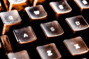 Обои Клавиатура Макро Крупным планом Ретро Компьютеры