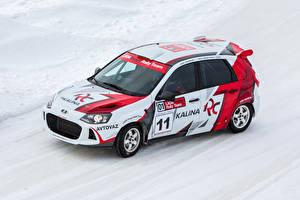 Обои Лада Тюнинг Белый 2014-17 Kalina RC Автомобили фото