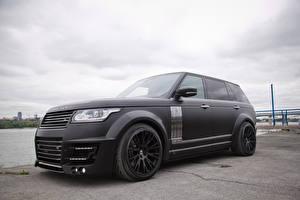 Обои Land Rover Черный LWB CLR R Lumma Design 2014 L405 Автомобили