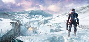 Картинки Lost Planet Воители Снег Extreme Condition Игры Фэнтези