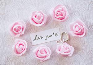 Фото 8 марта Розы Сердце Розовый Английский Цветы