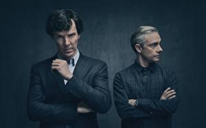 Фотография Мужчина Камбербэтч Бенедикт Шерлок season 4 Martin Freeman Фильмы Знаменитости