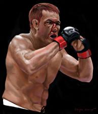 Фото Мужчины Рисованные Бокс Кровь Спорт