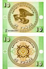 Картинка Деньги Купюры 10 tyiyn Kyrgyzstan