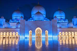 Фотографии Мечеть ОАЭ Sheikh Zayed Grand Mosque Abu Dhabi