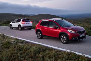 Фотографии Peugeot Двое 2016 2008 Автомобили
