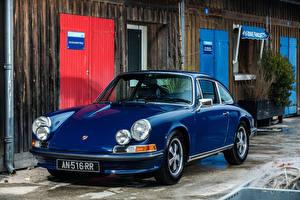 Картинка Porsche Старинные Синий Металлик 1971-73 911 S 2.4 Coupe (911) Автомобили