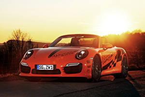 Обои Porsche Тюнинг Кабриолет Металлик 2016 Wimmer RS Porsche 911 Turbo S Автомобили