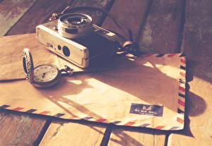 Фотография Ретро Карманные часы Письмо Фотоаппарат