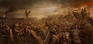 Обои Rome: Total War Битвы Солдаты Война Щит Копья Мечи 2 Игры картинки