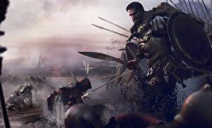 Картинка Rome: Total War Воители Мужчины Мечи Щит 2 Игры