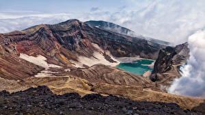 Картинки Россия Горы Камчатка Каньон Природа