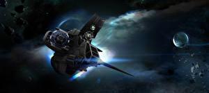Фотография Star Citizen Корабли Звездолёт Игры Космос