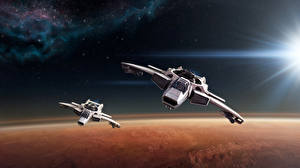 Обои Star Citizen Корабли Космолет Космос