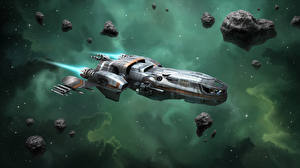 Фотографии Star Citizen Корабли Звездолёт Игры Космос
