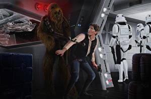Фото Звездные войны Мужчины Воители Автоматы Фильмы Фэнтези