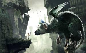 Обои Сверхъестественные существа Крылья Мальчики The Last Guardian Игры Фэнтези картинки