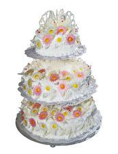 Фото Сладости Торты Белый фон Дизайн Свадьба Wedding Cake Еда