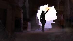 Фотографии Tomb Raider Лучники Лара Крофт Игры Девушки