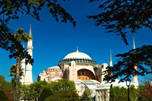 Фотография Турция Стамбул Храм Мечеть Blue Mosque Города
