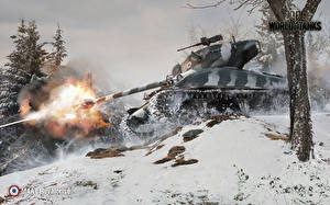 Обои World of Tanks Танки Выстрел M4A1 Revalorise Игры