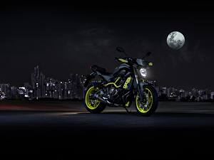 Картинка Yamaha Ночные Луна 2017 MT-07 Moto Cage