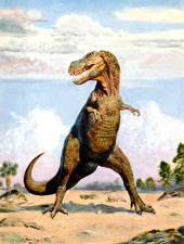 Фотографии Zdenek Burian Тираннозавр рекс Древние животные Динозавры Животные