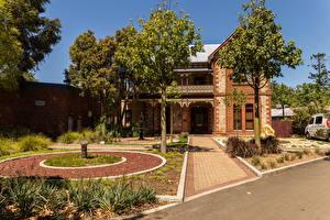 Фотографии Австралия Дома Ландшафт Особняк Дизайн Деревья Perth