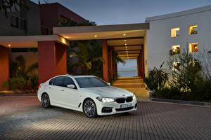 Фотография BMW Белых Металлик Седан 2017 530d Sedan M Sport Автомобили