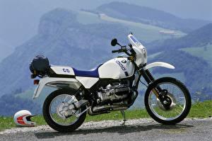 Фотография BMW - Мотоциклы Сбоку 1987 R 100 GS Мотоциклы