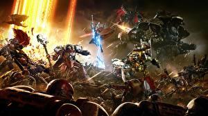 Картинки Битвы Воители Warhammer 40000 Dawn of War Робот III Игры Фэнтези