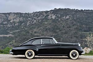 Фото Бентли Старинные Черная Металлик Сбоку 1953-55 R-Type Continental Sports Saloon by Mulliner AT авто