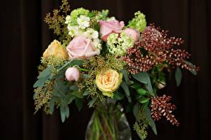 Фотографии Букеты Розы Цветы