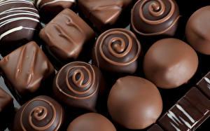 Фотографии Конфеты Шоколад Крупным планом Еда