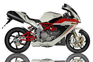 Картинки Вблизи Белый фон Сбоку 2005-16 Bimota DB5 Мотоциклы