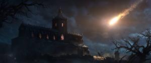Фотография Diablo III Замки Ночь Игры Фэнтези