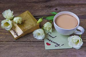 Картинки Эустома Горячий шоколад Английский Чашка Книга Сердце Цветы