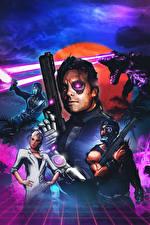 Обои Far Cry 3 Воины Пистолеты Киборг Blood Dragon