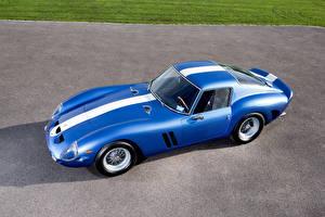Картинки Ferrari Стайлинг Ретро Синяя 1962 250 GTO Scaglietti машины