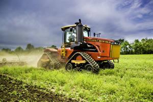 Обои Поля Трактор Трава 2013-17 Versatile 550DT