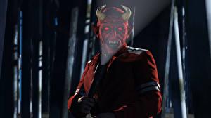 Обои ГТА 5 Демоны Хеллоуин Рога Фонарь 3D_Графика